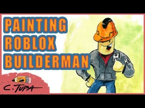 Painting The Roblox Builderman Youtube