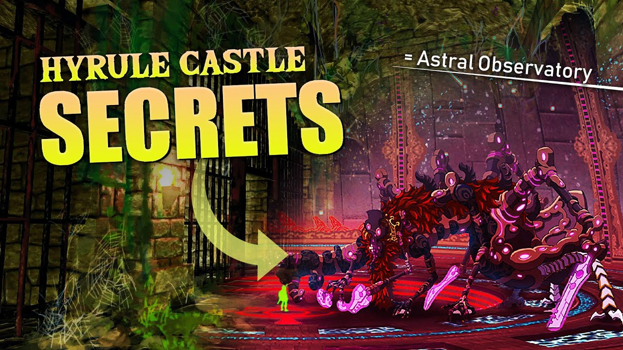 Breath Of The Wild What Secrets Lie Within Hyrule Castle Youtube