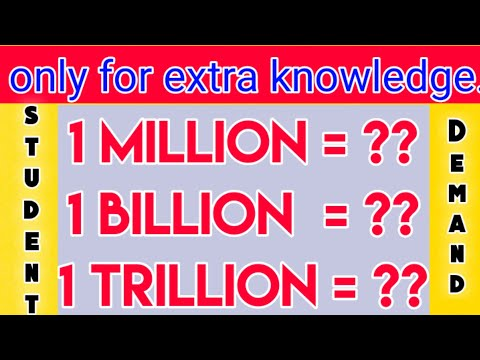 Million, Billion And Trillions       Million In Lakhs   How To Convert Lakh Into Millions   Olyecam