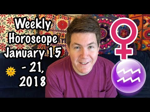 Weekly Horoscope for January 15 - 21, 2018 | Gregory Scott Astrology
