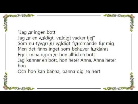 Basshunter - Boten Anna Lyrics