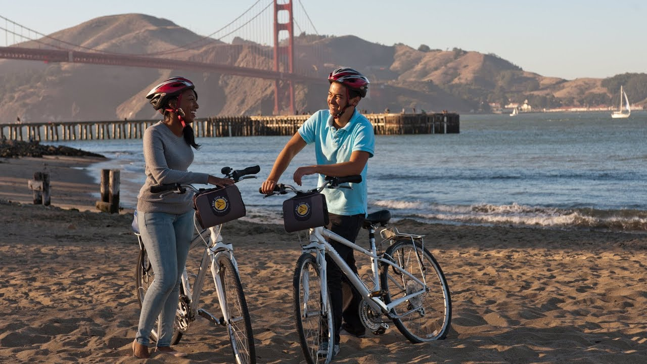 Golden Gate Bridge Bike Tour San Francisco Youtube
