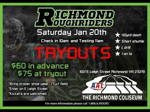 Richmond Roughriders Owner Talks Tryouts w/ 1140 WRVA's Jeff Katz!