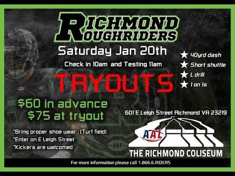 Richmond Roughriders Owner Talks Tryouts w/ 1140 WRVA's Jeff Katz!