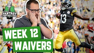 Fantasy Football 2019 - Week 12 Waivers + Full Stream Ahead, The Crushed Soul of Jason - Ep. #821