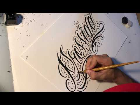 Criminal Lettering tattoo chicano style