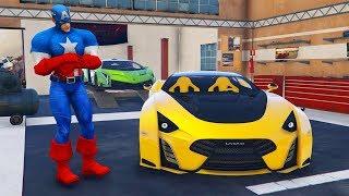 Süper Arabalar Garajında Kahramanlara Araba Alıyoruz