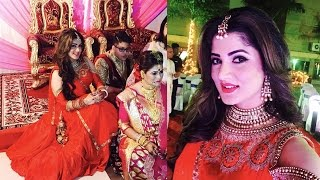দিদির বিয়েতে সপরিবারে শ্রাবন্তী !! Srabanti Chatterjee in a different mood in sisters Wedding!!