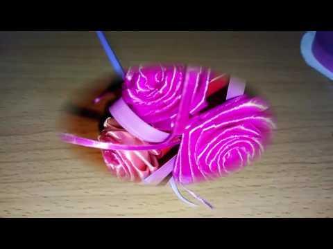 Hướng dẫn: CÁCH XẾP HOA HỒNG TỪ DÂY RUY BĂNG_Ribbon rose