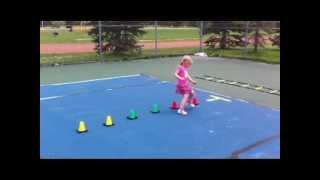 Tennis drills for Kids age 4 ! Уроки тенниса для детей. 4-летний