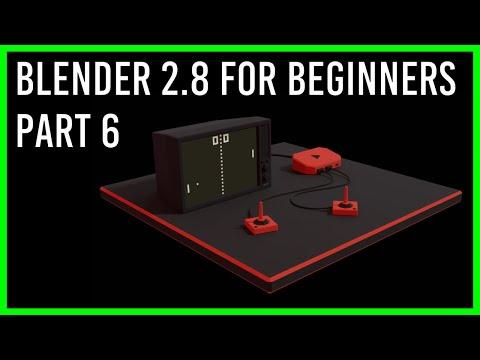Blender 2.8 Beginner Tutorial Part 6 - Game TV - Final thumbnail