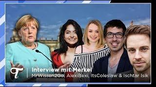Merkel Interview mit MrWissen2Go, AlexiBexi, ItsColeslaw und Ischtar Isik! #DeineWahl