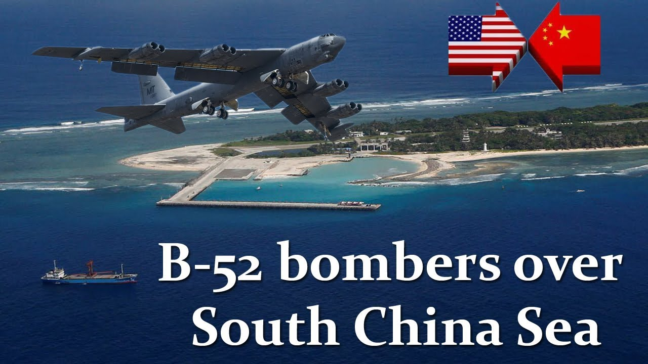 Image result for US flies B-52 bombers over South China Sea