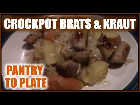 Crockpot Brats And Kraut | Crock Pot Meals And Recipes | Pantry To Plate