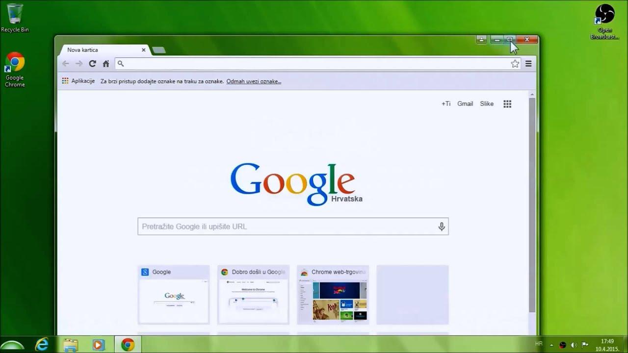 Kako Instalirati I Koristiti Google Chrome