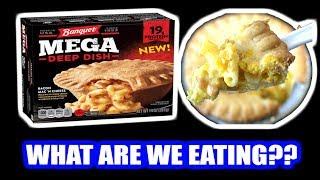 Banquet MEGA Deep Dish Bacon Mac 'N Cheese POT PIE!! - WHAT ARE WE EATING?? - The Wolfe Pit