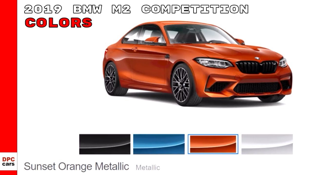 2019 bmw m2 competition colors