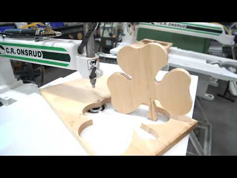 Routing Shamrocks on the C.R. Onsrud Inverted Router