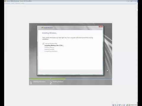Installation av Windows Server 2008