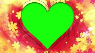 top Green Screen Autumn Heart