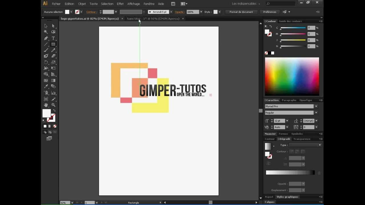 realiser un logo avec illustrator
