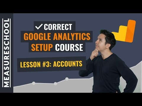 Google Analytics Accounts Best Practices | Lesson 3