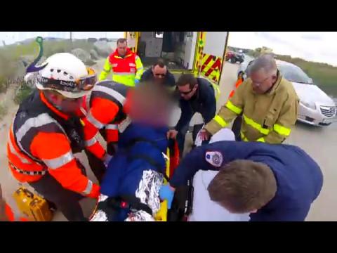 Injured Kitesurfer Dollymount Dublin - Irish Coast Guard Howth