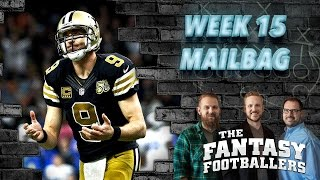 Fantasy Football 2016 - Playoff Mailbag, Pump the Brakes, TNF Preview- Ep. #327