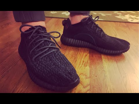 052c76104046c Yeezy Boost 350 2016 Pirate Black Unboxing   On Foot Review - YouTube