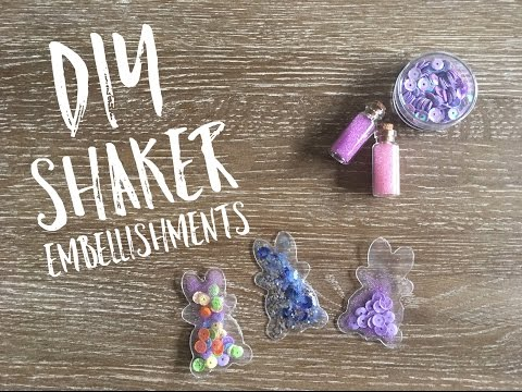 DIY Shaker Embellishments | How to make shaker embellishments |Fuse Tool Craft | Planner clips