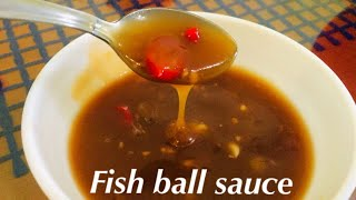 Fish ball sauce | Kikiam sauce | How to make sauce