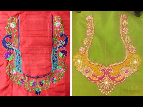 Superb Thread Embroidery Work Blouse Designs For Silk Saree | Silk Saree Blouse Designs |Maggam Work
