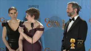 Cast & Producers of Girls - backstage interview - Golden Globes 2013