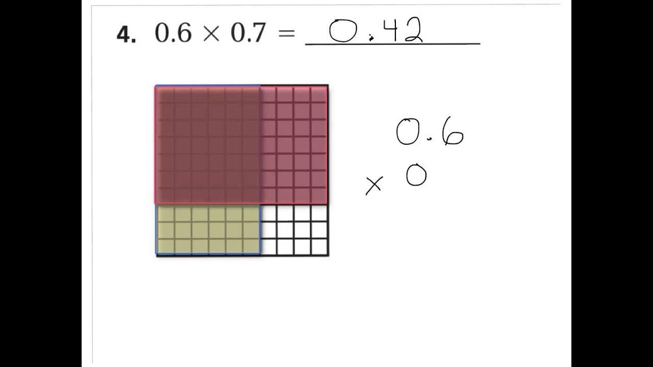 hight resolution of lesson 4.6 decimal multiplication models - YouTube