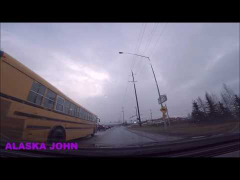 ALASKA DRIVING - Rain/Hail/Sun - April 28th 2017