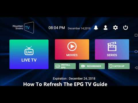 How To Refresh The EPG TV Guide Video.