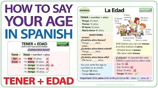How to ask someone their age in spanish