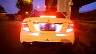 LOUD Mercedes-Benz C63 AMG w/ Fi Exhaust!