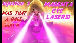 WAS THAT A RAGE QUIT?! MAGENTA EYE LASERS! (Injustice 2)