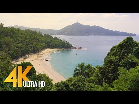 Beautiful Phuket Beaches in 4K (Ultra HD) - Urban Relax Video from Thailand (with Music ) - 1.5 HRS