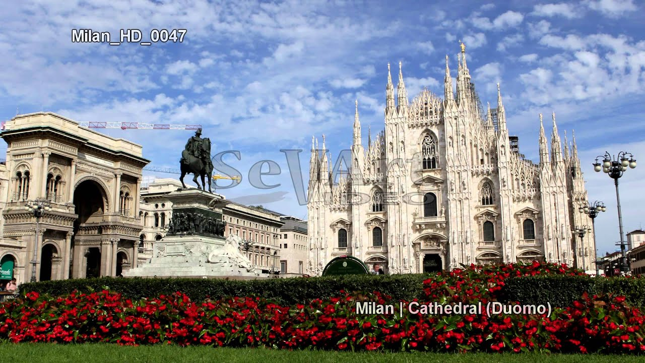 Uhd Ultra Hd 4k Video Stock Footage Milan Cathedral Italy
