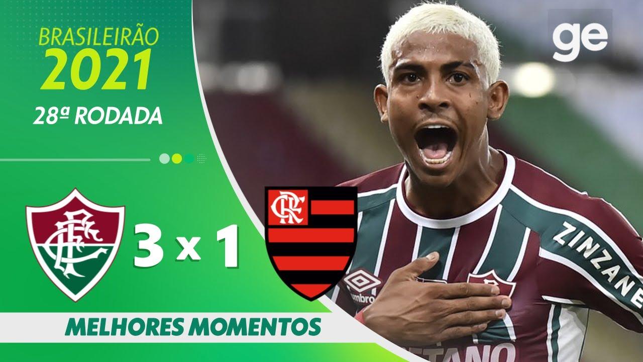 Download FLUMINENSE 3 X 1 FLAMENGO | MELHORES MOMENTOS | 28ª RODADA BRASILEIRÃO 2021 | ge.globo