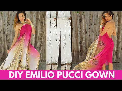 DIY Emilio Pucci Spring 2015 Ready-to-Wear Gown- 2 Easy Steps