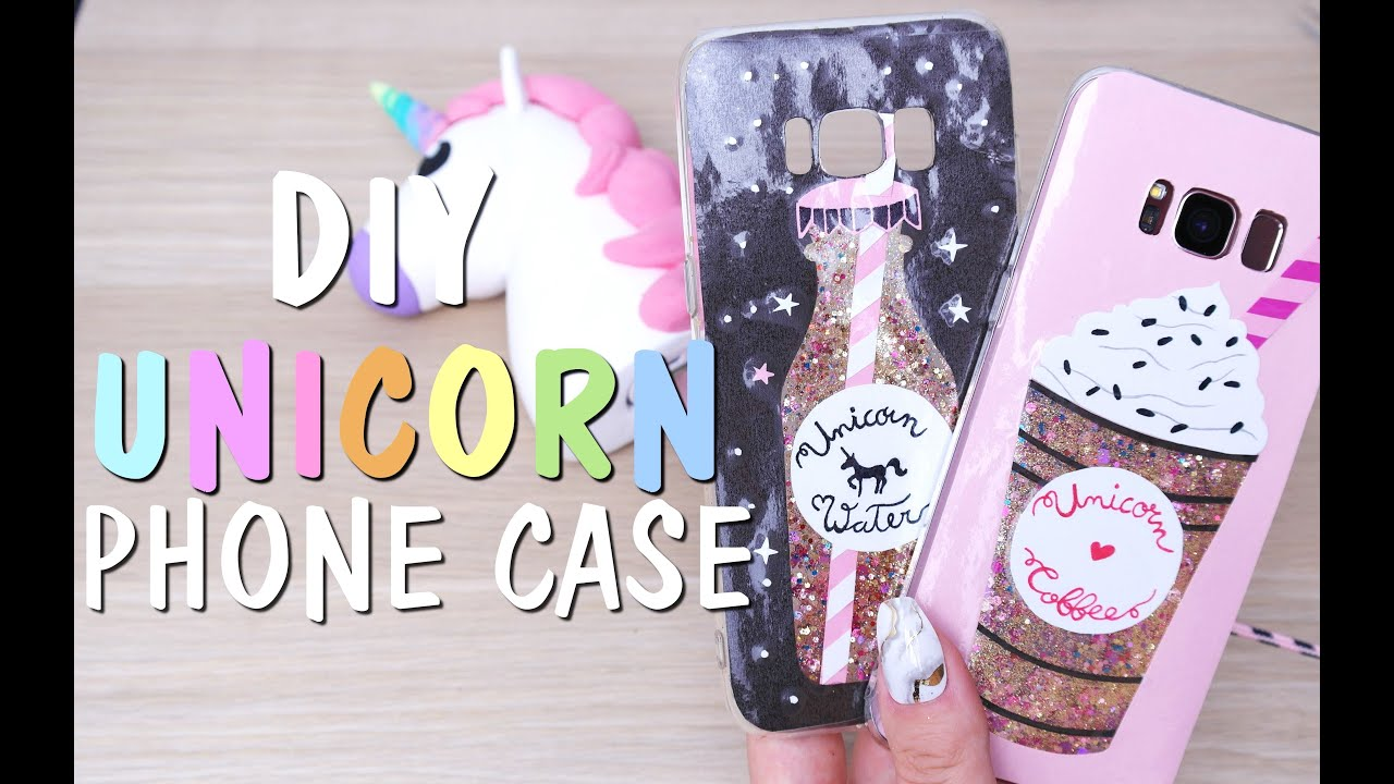 size 40 2993c 5bb89 DIY KAWAII UNICORN WATER / UNICORN COFFEE PHONE CASE TUTORIAL