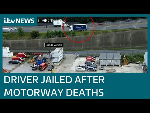 Lorry driver given ten months in jail for deaths of two men on smart motorway | ITV News