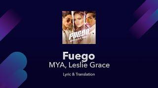 MYA, Leslie Grace - Fuego Lyrics English and Spanish - English Translation / Subtitles