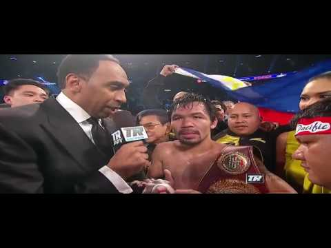 Manny Pacquiao vs. Jessie Vargas Post-Fight Interview