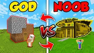 Minecraft NOOB vs. GOD: SWAPPED FUTURISTIC HOUSE BUILD CHALLENGE in Minecraft (Compilation)