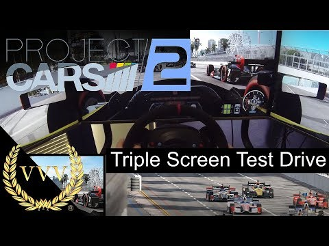 Project Cars 2 Indycar Long Beach Triple Screen