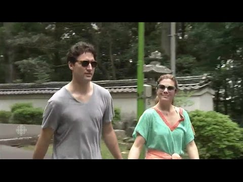 Justin and Sophie take a hike in Japan